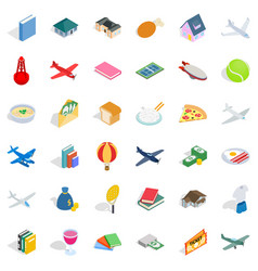 multiplicity icons set isometric style vector image vector image