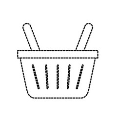 online shopping basket ecommerce market icon vector image