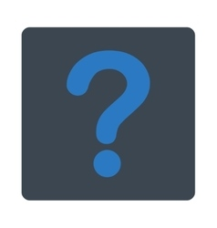 Question flat smooth blue colors rounded button vector