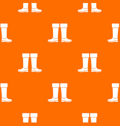 Rubber boots pattern seamless vector