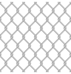 Seamless chain link fence background vector