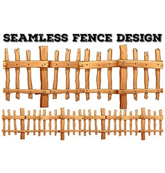 Seamless classic wooden fence design vector