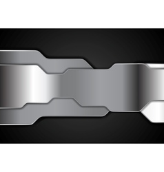 Shiny metallic futuristic tech background vector