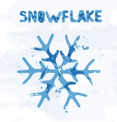 Snowflake abstract of colorful spots vector image