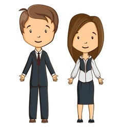 Two Cartoon style managers vector image vector image