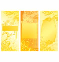 yellow backgrounds vector image