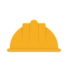 Helmet industrial security icon vector