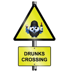 Drunks crossing vector