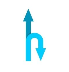 Forward and u-turn arrows vector