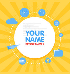 Social network programmer avatar place for your vector