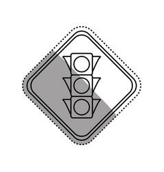 Semaphore traffic lights warning sign vector