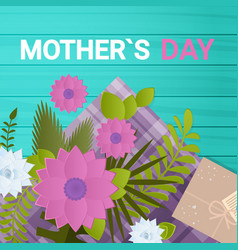 happy mother day spring holiday greeting card vector image