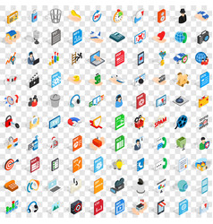 100 webdesign icons set isometric 3d style vector