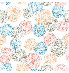 Seamless doodles ball pattern vector