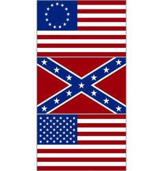Flags of the United States vector image