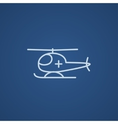 Air ambulance line icon vector