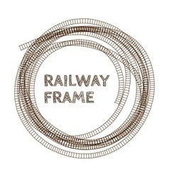 Round rough railway frame vector