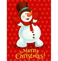 Christmas snowman for greeting card design vector