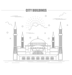 City buildings graphic template St Sofia Mosque vector image vector image