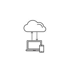 cloud computing symbol download social network vector image