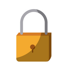 Colorful silhouette of padlock icon without vector