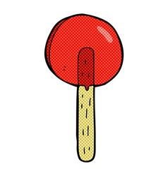 comic cartoon lollipop vector image
