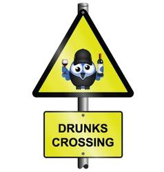 Drunks crossing vector