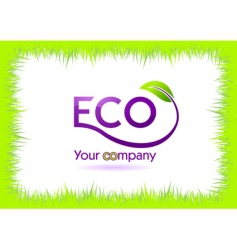 eco grass frame vector image vector image