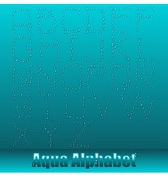 eps10 aqua alphabet vector image