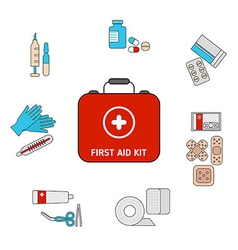 First aid kit concept vector