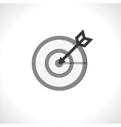 in a bullseye vector image vector image