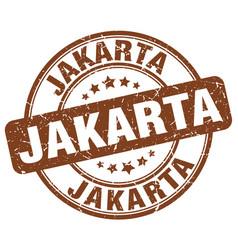 Jakarta stamp vector
