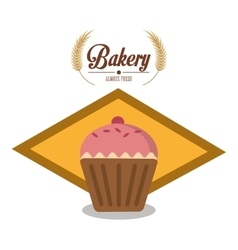 Muffin of bakery design vector