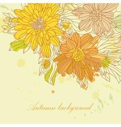 Orange autumn perfect background vector image vector image