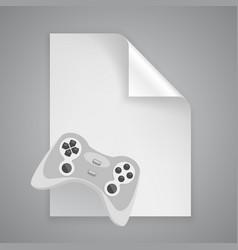 paper symbol joystick vector image vector image