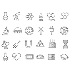 Science black icons set vector
