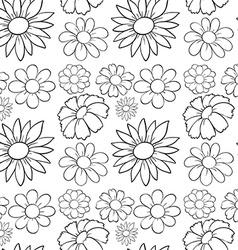 Seamless flowers in draft vector
