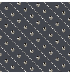 Seamless metallic rivets diamonds pattern vector