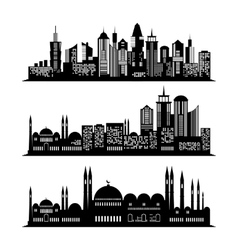 Set of skyscraper sketches city design vector