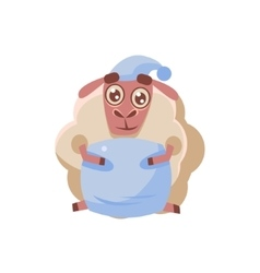 Sheep Preparing To Bed vector image vector image