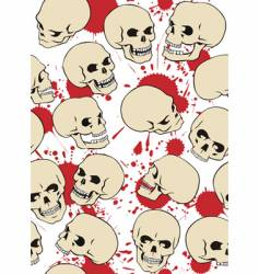skulls vector image vector image