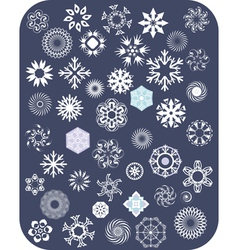 Snowflake White Set vector image vector image