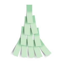 Sticker Christmas tree vector image vector image
