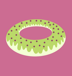 Sweet dessert in flat design donut vector