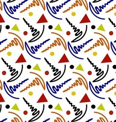 Wavy pattern colorful vector