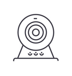 web camonline camera line icon sign vector image