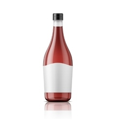Wine vinegar bottle with cap and label vector