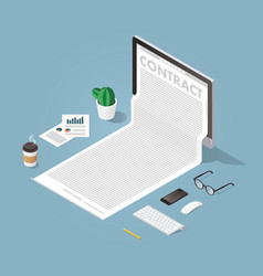 working with documents concept vector image vector image