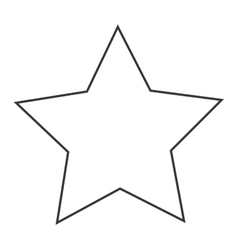 Star shape decoration design vector