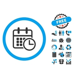 Timetable flat icon with bonus vector